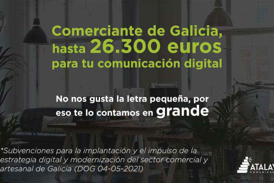 26.300 euros para la comunicación digital de tu comercio