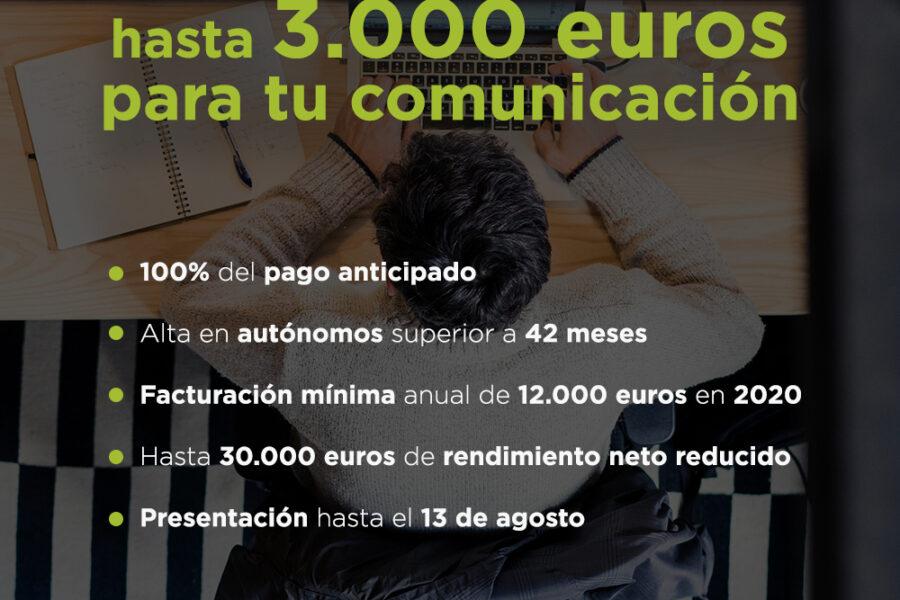 Persona autónoma, esto es para ti: hasta 3.000 euros para tu comunicación